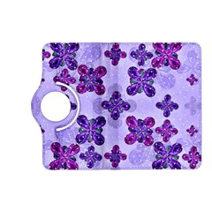 Deluxe Ornate Pattern Design in Blue and Fuchsia Colors Kindle Fire HD (2013) Flip 360 Case