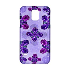 Deluxe Ornate Pattern Design In Blue And Fuchsia Colors Samsung Galaxy S5 Hardshell Case