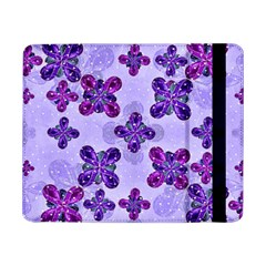 Deluxe Ornate Pattern Design In Blue And Fuchsia Colors Samsung Galaxy Tab Pro 8 4  Flip Case
