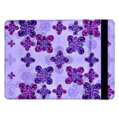 Deluxe Ornate Pattern Design in Blue and Fuchsia Colors Samsung Galaxy Tab Pro 12.2  Flip Case