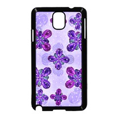 Deluxe Ornate Pattern Design in Blue and Fuchsia Colors Samsung Galaxy Note 3 Neo Hardshell Case (Black)