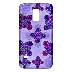 Deluxe Ornate Pattern Design in Blue and Fuchsia Colors Samsung Galaxy S5 Mini Hardshell Case