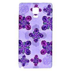 Deluxe Ornate Pattern Design in Blue and Fuchsia Colors Samsung Note 4 Hardshell Back Case