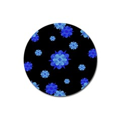 Floral Print Modern Style Pattern  Magnet 3  (round)
