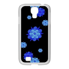 Floral Print Modern Style Pattern  Samsung GALAXY S4 I9500/ I9505 Case (White)