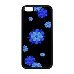 Floral Print Modern Style Pattern  Apple Iphone 5c Seamless Case (black)