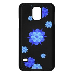 Floral Print Modern Style Pattern  Samsung Galaxy S5 Case (black)