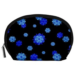 Floral Print Modern Style Pattern  Accessory Pouch (Large)