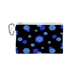 Floral Print Modern Style Pattern  Canvas Cosmetic Bag (Small)