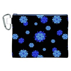 Floral Print Modern Style Pattern  Canvas Cosmetic Bag (XXL)