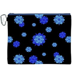 Floral Print Modern Style Pattern  Canvas Cosmetic Bag (XXXL)