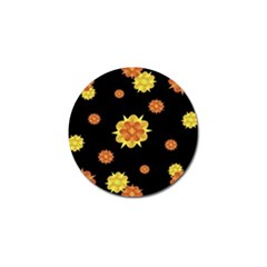 Floral Print Modern Style Pattern  Golf Ball Marker 10 Pack