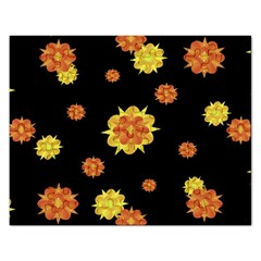 Floral Print Modern Style Pattern  Jigsaw Puzzle (rectangle)
