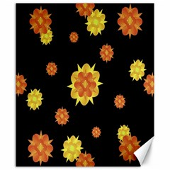 Floral Print Modern Style Pattern  Canvas 20  x 24  (Unframed)