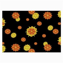 Floral Print Modern Style Pattern  Glasses Cloth (large, Two Sided)