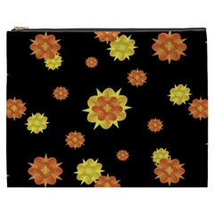 Floral Print Modern Style Pattern  Cosmetic Bag (XXXL)