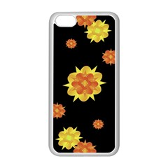 Floral Print Modern Style Pattern  Apple iPhone 5C Seamless Case (White)