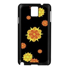 Floral Print Modern Style Pattern  Samsung Galaxy Note 3 N9005 Case (Black)