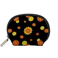 Floral Print Modern Style Pattern  Accessory Pouch (Small)