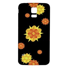 Floral Print Modern Style Pattern  Samsung Galaxy S5 Back Case (White)
