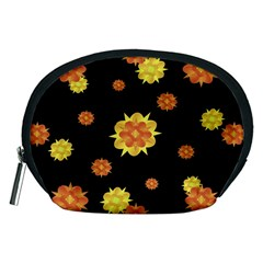 Floral Print Modern Style Pattern  Accessory Pouch (Medium)