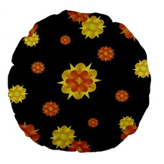 Floral Print Modern Style Pattern  18  Premium Flano Round Cushion