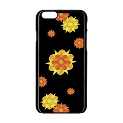 Floral Print Modern Style Pattern  Apple iPhone 6 Black Enamel Case