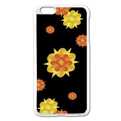 Floral Print Modern Style Pattern  Apple iPhone 6 Plus Enamel White Case