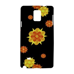 Floral Print Modern Style Pattern  Samsung Galaxy Note 4 Hardshell Case