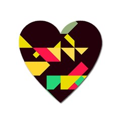 Shapes In Retro Colors 2 Magnet (heart)