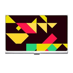 Shapes In Retro Colors 2 Business Card Holder