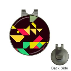 Shapes In Retro Colors 2 Golf Ball Marker Hat Clip