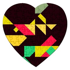 Shapes In Retro Colors 2 Jigsaw Puzzle (heart)