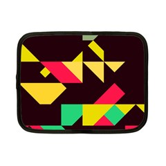 Shapes In Retro Colors 2 Netbook Case (small)