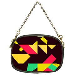 Shapes In Retro Colors 2 Chain Purse (two Sides)