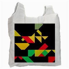 Shapes In Retro Colors 2 Recycle Bag (two Side)