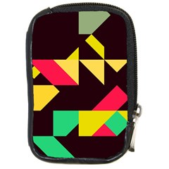 Shapes In Retro Colors 2 Compact Camera Leather Case