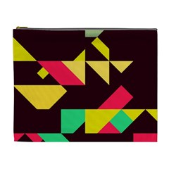 Shapes In Retro Colors 2 Cosmetic Bag (xl)
