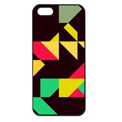 Shapes In Retro Colors 2 Apple Iphone 5 Seamless Case (black)
