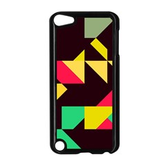 Shapes in retro colors 2 Apple iPod Touch 5 Case (Black)