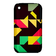 Shapes in retro colors 2 Apple iPhone 3G/3GS Hardshell Case (PC+Silicone)
