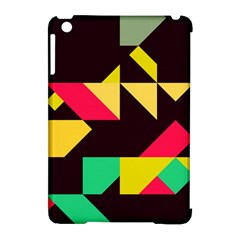 Shapes In Retro Colors 2 Apple Ipad Mini Hardshell Case (compatible With Smart Cover)