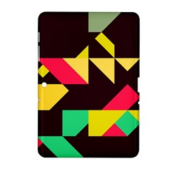 Shapes in retro colors 2 Samsung Galaxy Tab 2 (10.1 ) P5100 Hardshell Case
