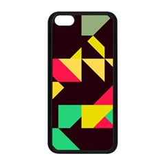 Shapes in retro colors 2 Apple iPhone 5C Seamless Case (Black)