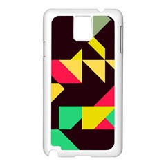 Shapes In Retro Colors 2 Samsung Galaxy Note 3 N9005 Case (white)