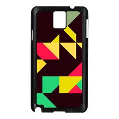 Shapes in retro colors 2 Samsung Galaxy Note 3 N9005 Case (Black)