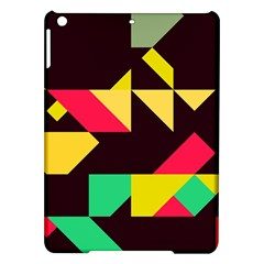 Shapes in retro colors 2 Apple iPad Air Hardshell Case