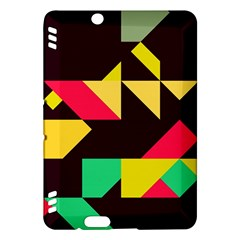Shapes In Retro Colors 2 Kindle Fire Hdx Hardshell Case