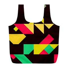 Shapes In Retro Colors 2 Full Print Recycle Bag (l)