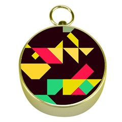 Shapes in retro colors 2 Gold Compass